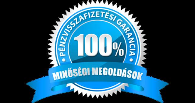 100% pénz visszafizetési garancia